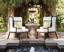 On The Veranda luxurious pool chairs.